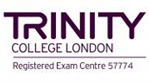 A Trinity College London exam centre certitication.