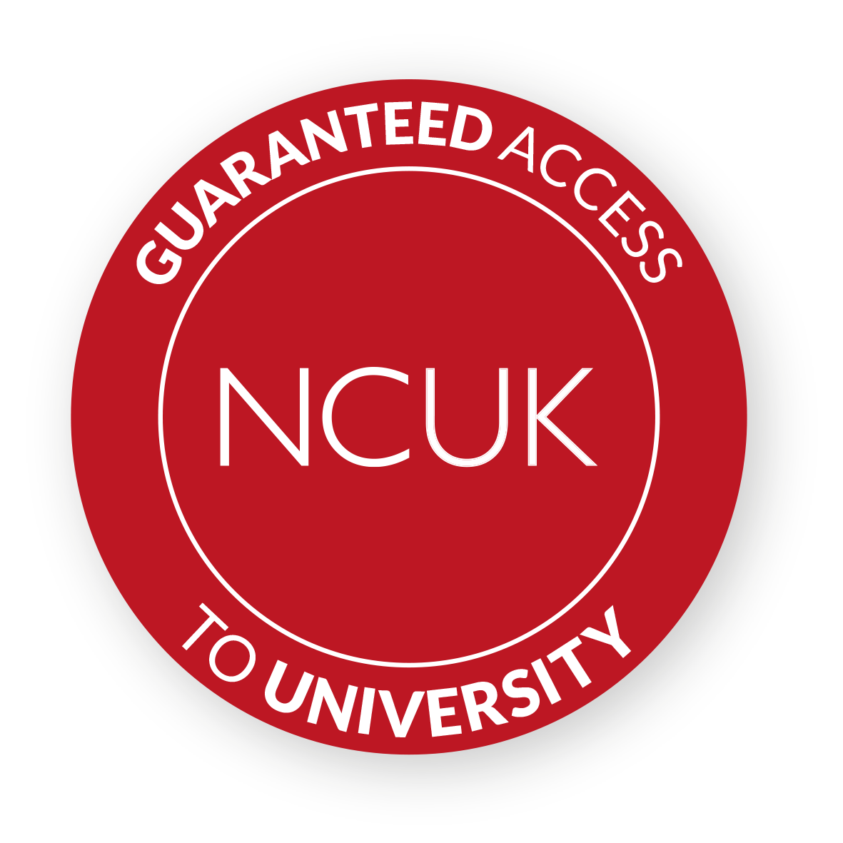 guaranteed access to university NCUK badge