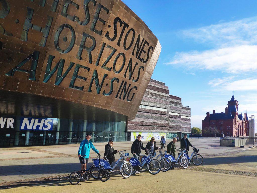 A group of Celtic students visit Cardiff Millenium Centre