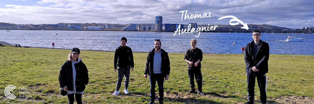 Thomas and a group of Celtic students visit Cardiff Bay by Bike